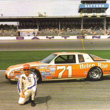 1986 #71 Dave Marcis Helen Rae
