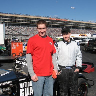 Trevor Mourer(crew) & Dale Dodge Jr at Atlanta Motor Speedway 3/8/08