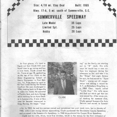 Summerville Speedway 69 p3 Clyde Hill owner