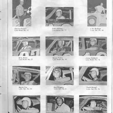 Summerville Speedway 69 p19 Late Model & Ltd Sp drivers