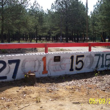 Columbia Speedway Wall