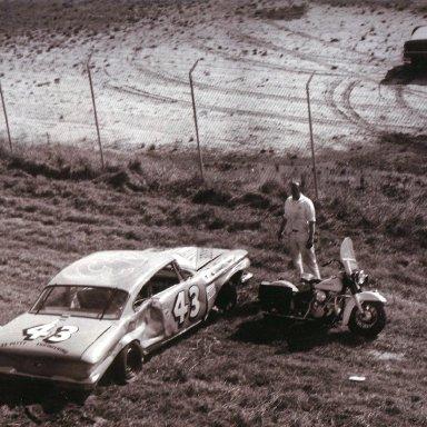 1961 Richard Petty Crash at Daytona