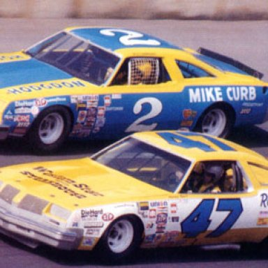 Dale Earnhardt and Harry Gant