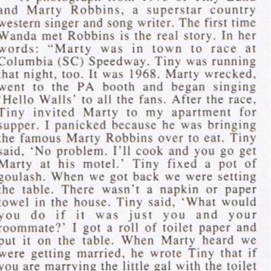 Article about phot of tTiny Lund and Marty Robbins