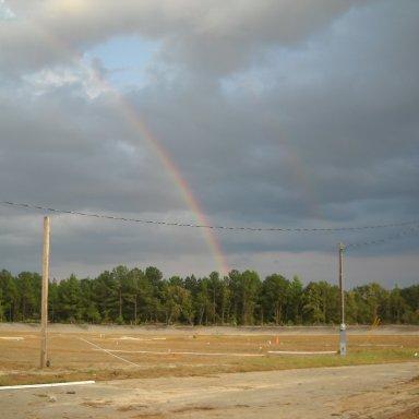 2 Rainbows at Columbia Speedway