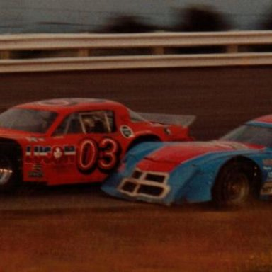 Jack Monaghan-Larry Lamay Checker Flag turn 4 1980's