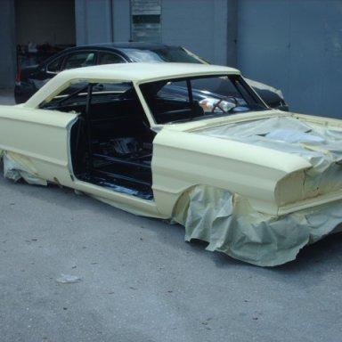 64 Darlington car at paint shop 9-1-09 005