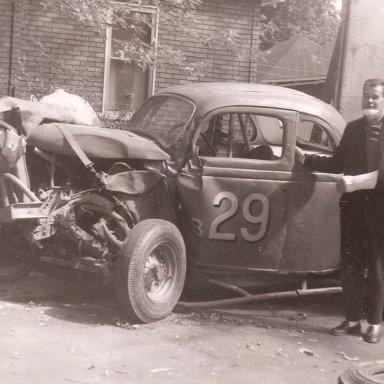 Dick May 1963 major crash!