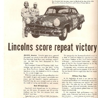 FOR THE LINCOLN  FANS