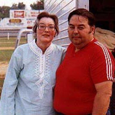 Eddy and Bernita Stafford at Hickory 1984
