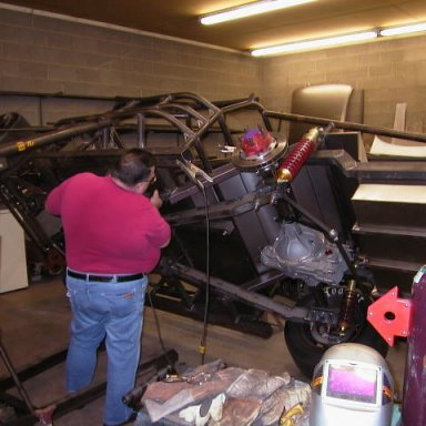 Eddy Stafford at work in his shop