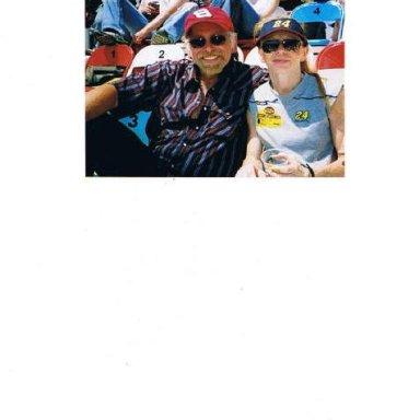 Rick and Connie Hudson at Talladega