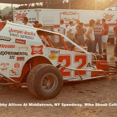#22 Bobby Allison in pits