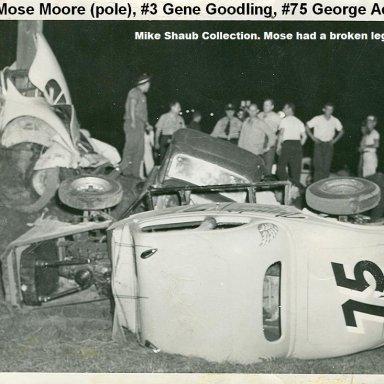 Mose Moore, Gene Goodling, George Ackley crash