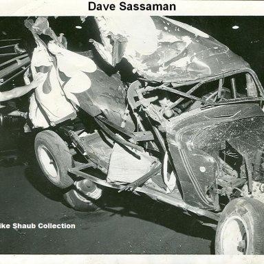 #777 Dave Sassaman crash