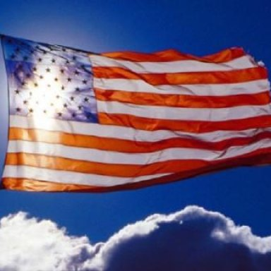 because of this flag we salute