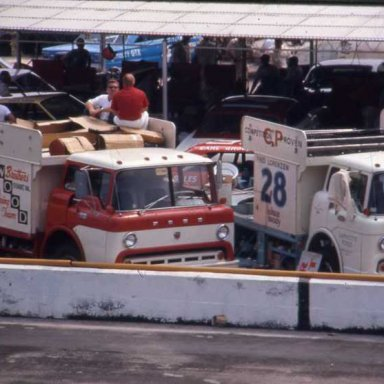 Wood Brothers and Holman-Moody haulers