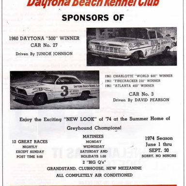 Daytona Beach Kennel Club ad