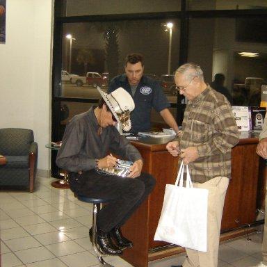 Richard Petty and Fan