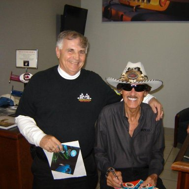 Tim Leeming and Richard Petty