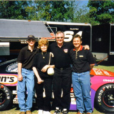 Ann and Tim Leeming with Justin Hobgood (left) and Jacob Hobgood (Right)