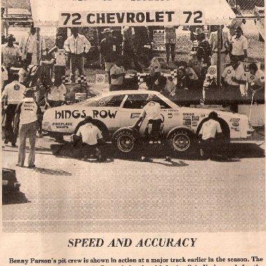 Benny Parsons' pit crew 1975