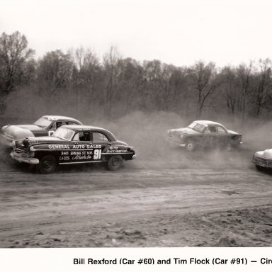 Bill Rexford # 60, Tim Flock #91, 1950