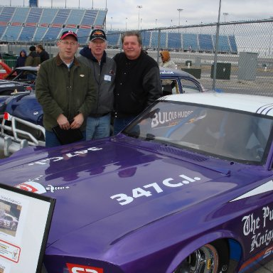 Bob Behounek, Art Fehrman, Peter Pan Chicagoland Speedway Memoriablia Show photo by Pat