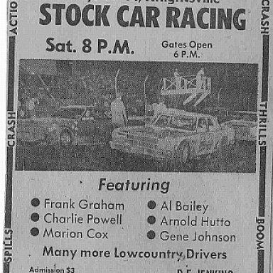 Summerville Speedway 1974 ad