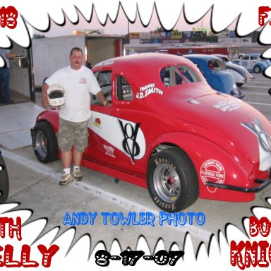 My Friend Kelly Knight one fast son Of A Gun- Bobby Apples Car.