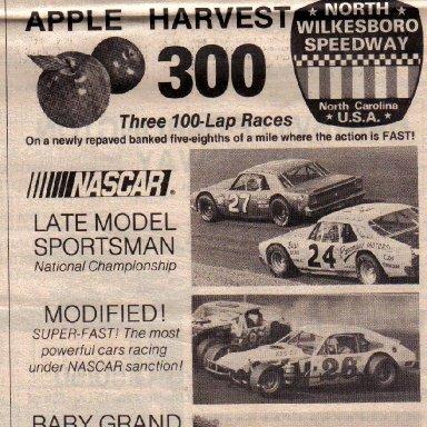 North Wilksboro speedway 1980
