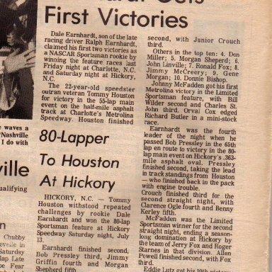 Dale Earnhardt first win.