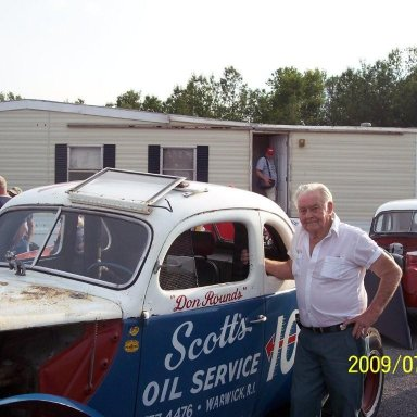 Don Rounds at Utica Rome Speedway 7/23/2009 His unrestored coupe