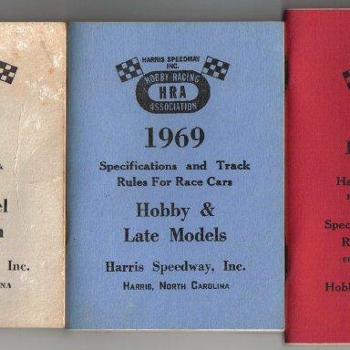 Harris speedway rule book