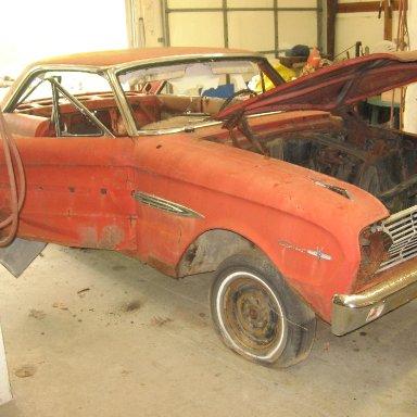 #45 63 Falcon tribute  car at Harold Smith's garage