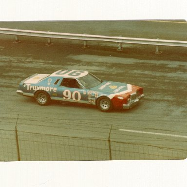 Jody Ridley in the #90 Donlavey Ford at Bristol