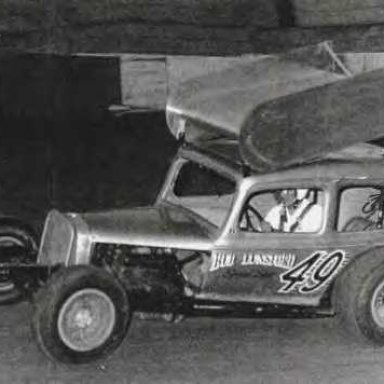 "Bud Lunsford in a ""skeeter"""