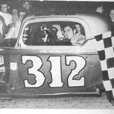 Bobby Allison with another crowd pleasing win.