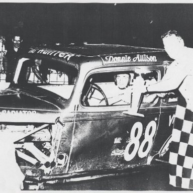 Donnie Allison with a victory