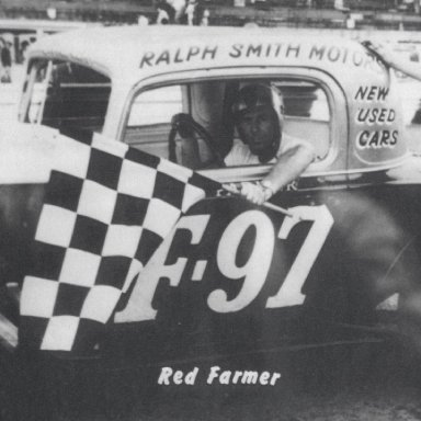 Red Farmer gets a checkered flag