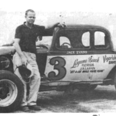 Jackie Evans with his Modified Special coupe