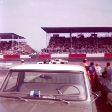 1976 Southern 500 Driver Introductions - Buddy Baker(15) & Darrell Waltrip(88)