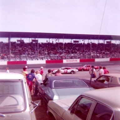 1976 Southern 500 Driver Introductions - Benny Parsons(72) & Dave Marcis(71)