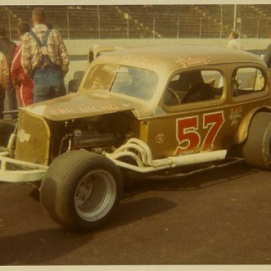 Johnny Bryant sedan at Martinsville, Walt Wimer photo