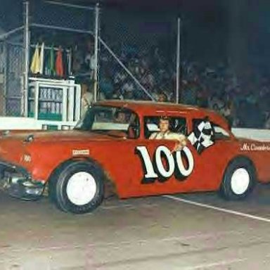 Darrell Waltrip in a 57 Chevy