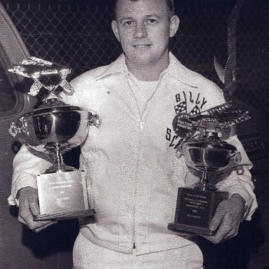 Billy Scott With Nascar Trophies
