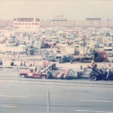 """Bobby Allison's wreck in 1976 at """"The Rock"""""""