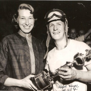 Ralph Harpe winner of the Amateur Championship Race Bowman Gray May 12, 1952