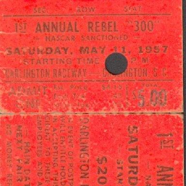 Darlington Raceway Rebel 300  1957
