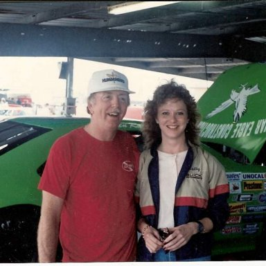 Red Farmer and Patty Moise Daytona ARCA 1990